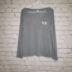 Victoria Secret Scoop Neck Monogram Top